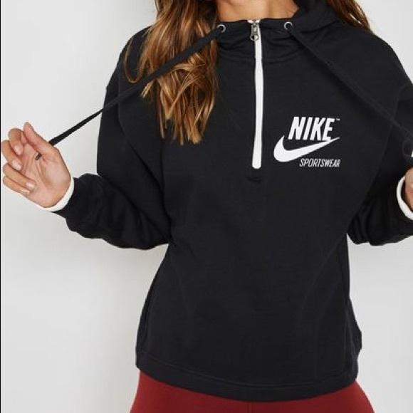Nike Air Half Zip Sweatshirt Damen blau schwarz im Online Shop von SportScheck kaufen